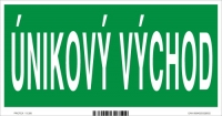 Označenie s textom ÚNIKOVÝ VÝCHOD (20 x 10 cm)