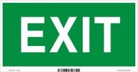 Označenie s textom EXIT (20 x 10 cm)