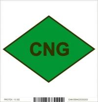 Piktogram - CNG - vozidlo na stlačený zemný plyn (10x10 cm)