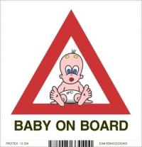 Piktogram  - baby on board (dieťa v aute) (10 x 10 cm)