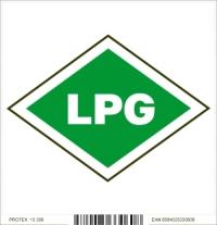 Piktogram - LPG - vozidlo na skvapalnený propán-bután (10 x 10 cm)