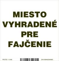 Označenie s textom Miesto vyhradené pre fajčenie (10 x 10 cm)