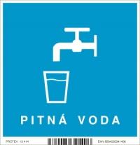 """Piktogram """"Pitná voda"""" (10 x 10 cm)"""