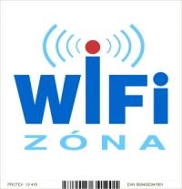 """Označenie """"WiFi zóna"""" - samolepka (10 x 10 cm)"""