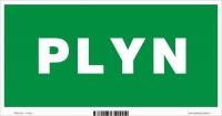 Označenie PLYN (20 x 10 cm)
