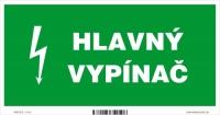 Označenie Hlavný vypínač elektriny (20 x 10 cm)