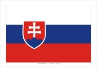 Štátna zástava Slovenskej republiky A4 (laminovaný)