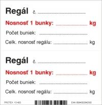 Piktogram označenie nosnosti regálu (10x10 cm)