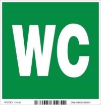 Piktogram WC (10x10 cm)