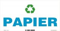 Označenie odpadu - separovaný zber - PAPIER (20x10 cm)