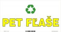 Označenie odpadu - separovaný zber - PET fľaše (20x10 cm)