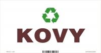 Označenie odpadu - separovaný zber - KOVY (20x10 cm)