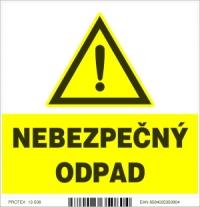 Označenie nebezpečného odpadu (10x10 cm)