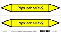 Označenie potrubia Plyn nehorľavý (20x10 cm)