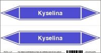Označenie potrubia Kyselina (20x10 cm)