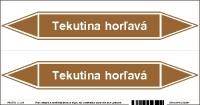 Označenie potrubia Tekutina horľavá (20x10 cm)