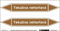 Označenie potrubia Tekutina nehorľavá (20x10 cm)