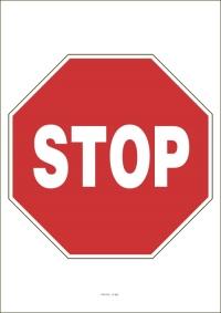 """Označenie """"Stoj, daj prednosť v jazde!"""" (A4, laminované)"""