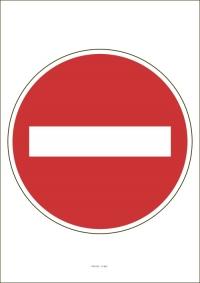 """Označenie """"Zákaz vjazdu všetkých vozidiel"""" (A4, laminované)"""