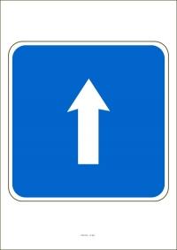 """Označenie """"Jednosmerná premávka"""" (A4, laminované)"""