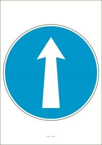 """Označenie """"Prikázaný smer jazdy priamo"""" (A4, laminované)"""