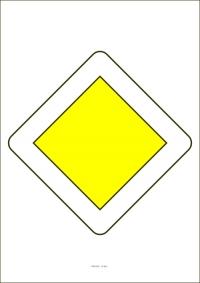 """Označenie """"Hlavná cesta"""" (A4, laminované)"""