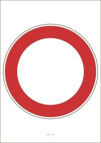 """Označenie """"Zákaz vjazdu všetkých vozidiel v oboch smeroch"""" (A4, laminované)"""