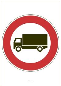 """Označenie """"Zákaz vjazdu nákladných automobilov"""" (A4, laminované)"""