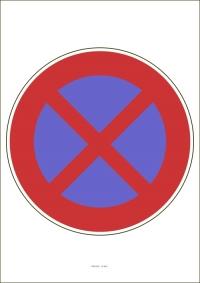 """Označenie """"Zákaz zastavenia"""" (A4, laminované)"""