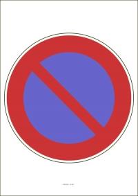"""Označenie """"Zákaz státia"""" (A4, laminované)"""