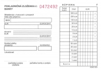 Pokladničná zloženka 3-dielna, samoprepis., číslovaná