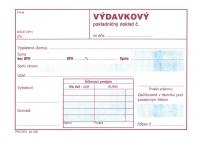 Výdavkový pokladničný doklad biely papier, blok A6, dvojfarebná potlač