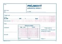 Príjmový pokladničný doklad dvojfarebný, samoprepisovací blok A6