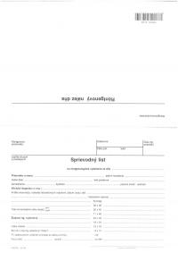 Sprievodný list na RTG vyšetrenie (A5, 2 listy)