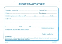 Žiadosť o pracovné voľno (blok A6, 100 listov)