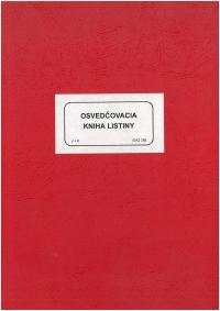Osvedčovacia kniha listiny (tvrdá väzba)
