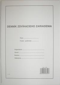 Denník zdvíhacieho zariadenia (zošit A4, 30 listov)