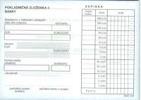 Pokladničná zloženka (blok A6, 100 listov, nečíslovaná)
