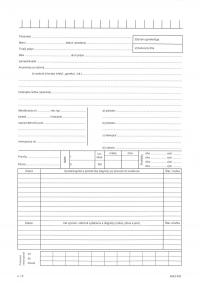 Záznam gynekológa - A4 dvojlist