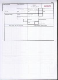 Záznam o výkone v zahraničnej preprave A4, blok 3x25 listov