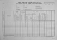 Denný pracovný záznam stomatológa