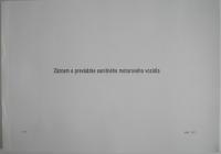 Záznam o prevádzke sanitného motorového vozidla - A4 blok, 50 listov