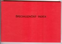 Špecializačný index