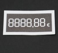 37x70mm digitálna cenovka