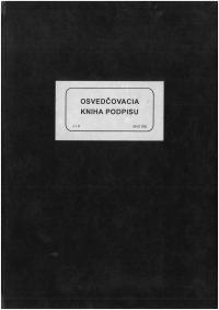 Osvedčovacia  kniha  podpisu (tvrdá väzba)
