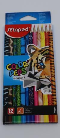 Farebné ceruzky Maped Animals 12ks