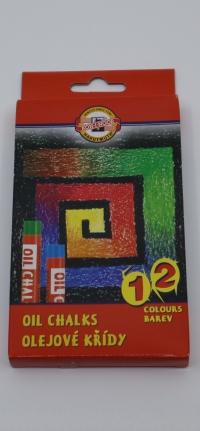 Olejový pastel 12 farieb Gioconda