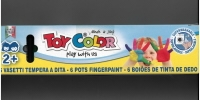 Prstové farby Toy color 6x25ml