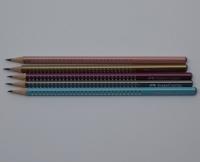 ceruzka Grip Sparkle trojhranná metal/neon