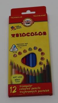 Pastely trojhranné Tricolor 12ks